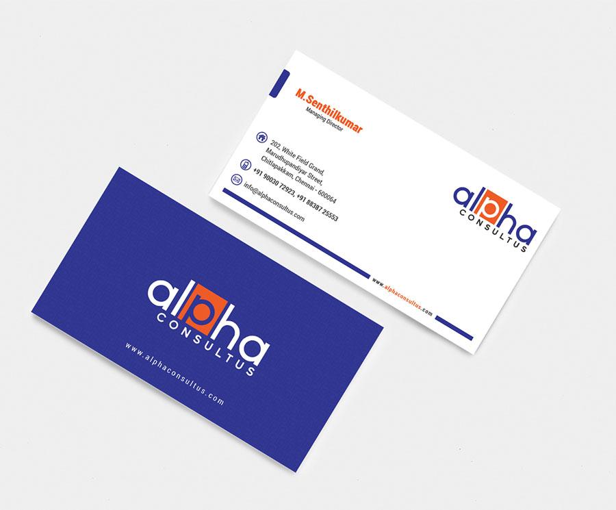 Alpha consultus chennai business card designed by grc web design alpha consultus business card design 1 colourmoves