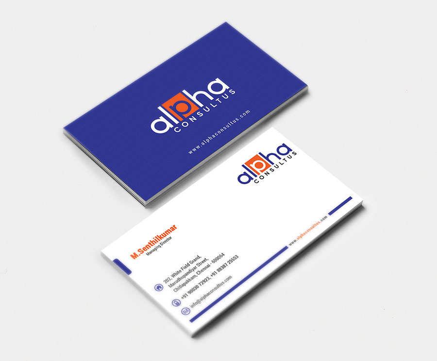 Business Card Design - GRC Web Design | Vellore